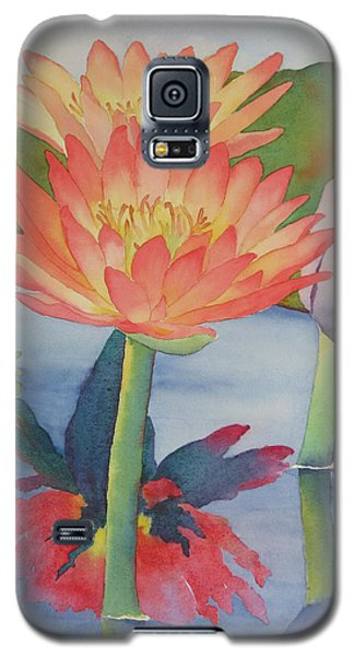 Coral Waterlilies Galaxy S5 Case by Judy Mercer