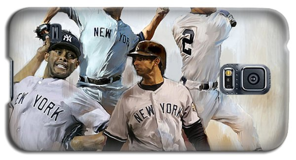 Core  Derek Jeter Mariano Rivera  Andy Pettitte Jorge Posada Galaxy S5 Case by Iconic Images Art Gallery David Pucciarelli