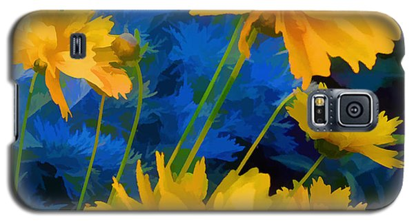 Coreopsis - Yellow And Blue Galaxy S5 Case