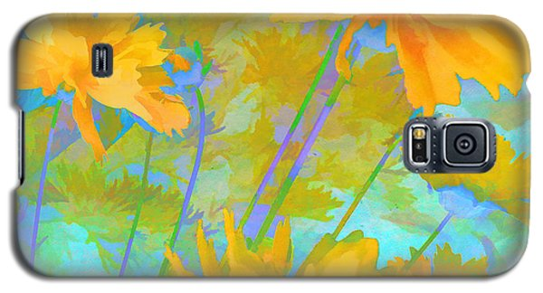 Coreopsis - Yellow And Green Galaxy S5 Case