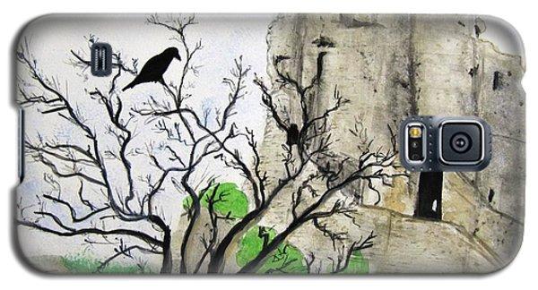 Corfe Castle And Crow Galaxy S5 Case