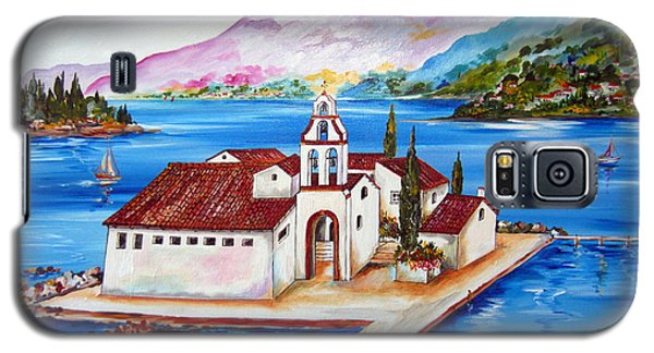 Corfu' Convent Of The Virgin Mary On Vlachema Galaxy S5 Case by Roberto Gagliardi