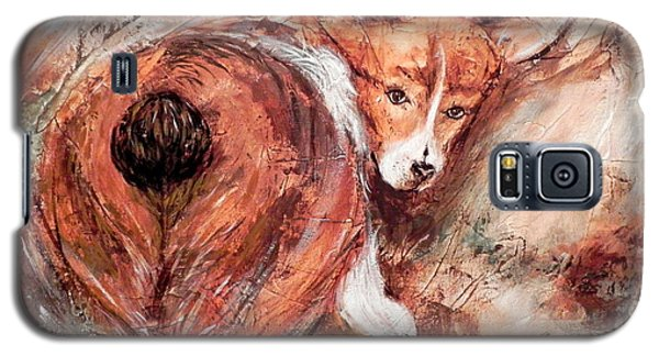 Galaxy S5 Case featuring the painting Corgi Butt by Patricia Lintner