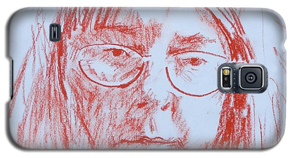 Galaxy S5 Case featuring the drawing Corliss' Portrait by PainterArtist FINs husband Maestro