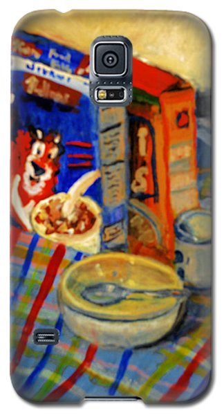 Galaxy S5 Case featuring the painting Corn Flakes by Michael Daniels