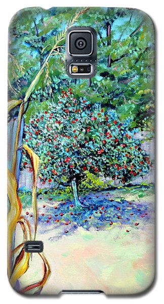 Corn Stalk And Apple Tree  Autumn Lovers Galaxy S5 Case by Asha Carolyn Young