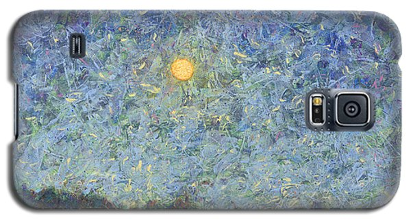 Galaxy S5 Case featuring the painting Cornbread Moon - Square by James W Johnson