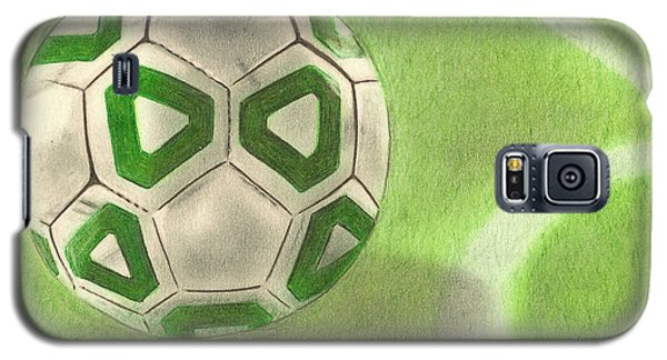 Galaxy S5 Case featuring the drawing Corner Kick by Troy Levesque