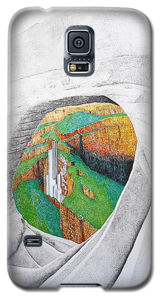 Galaxy S5 Case featuring the painting Cornered Stones by A  Robert Malcom