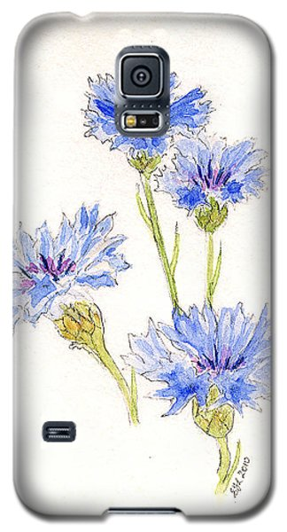 Galaxy S5 Case featuring the painting Cornflowers by Stephanie Grant