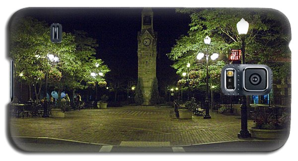 Galaxy S5 Case featuring the photograph Corning Clock Tower by Tom Doud