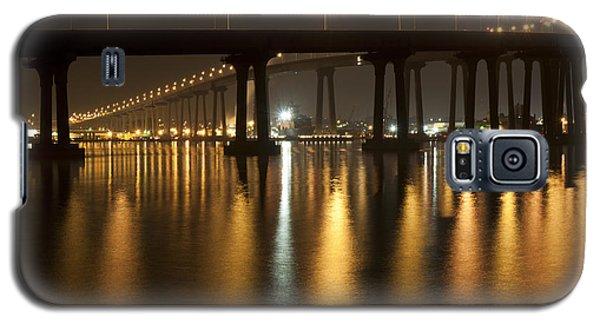 Galaxy S5 Case featuring the photograph Coronado Bridge At Night by Nathan Rupert