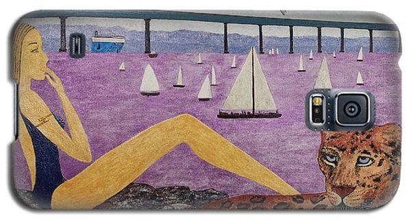 Galaxy S5 Case featuring the painting Coronado Bridge   San Diego by Jasna Gopic