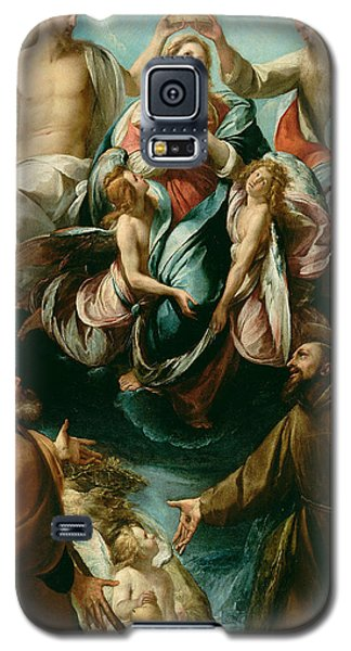 Coronation Of The Virgin With Saints Joseph And Francis Of Assisi Galaxy S5 Case