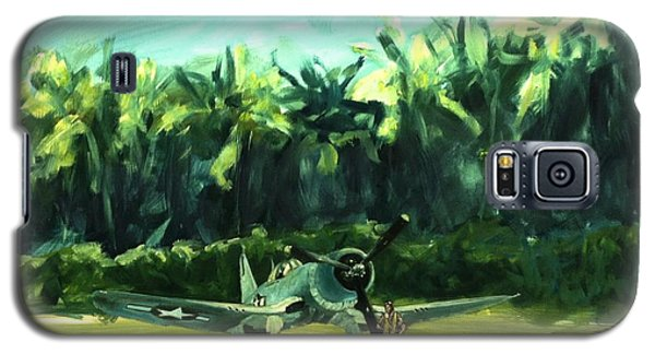 Galaxy S5 Case featuring the painting Corsair In Jungle by Stephen Roberson