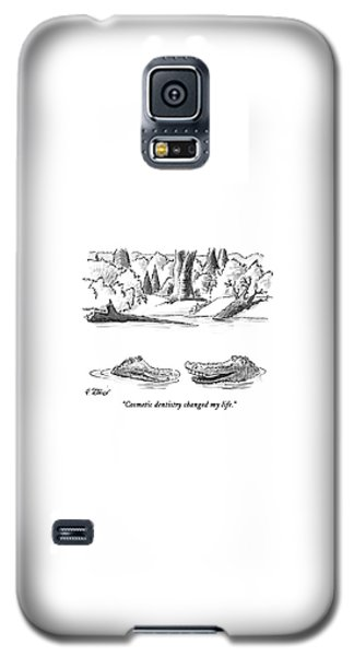 Alligator Galaxy S5 Case - Cosmetic Dentistry Changed My Life by Peter Steiner