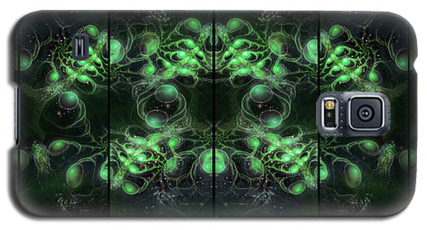 Cosmic Alien Eyes Green Galaxy S5 Case