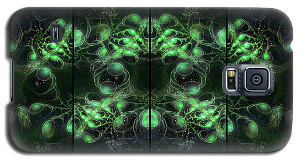 Cosmic Alien Eyes Green Galaxy S5 Case