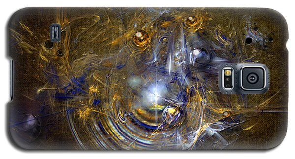 Galaxy S5 Case featuring the painting Cosmic Bubbles by Alexa Szlavics