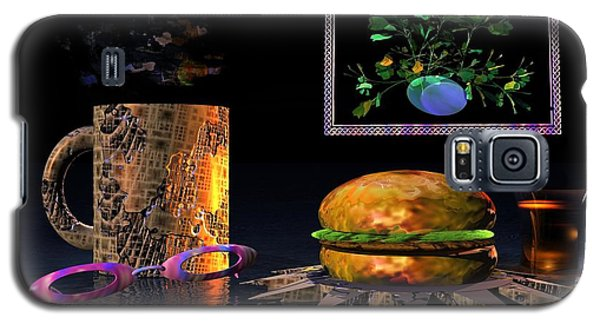 Galaxy S5 Case featuring the digital art Cosmic Burger by Jacqueline Lloyd
