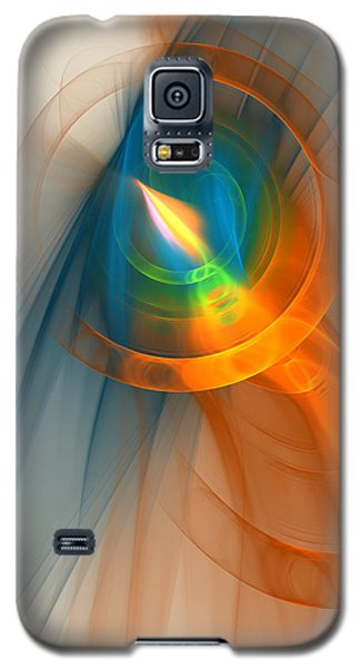 Galaxy S5 Case featuring the digital art Cosmic Candle by Victoria Harrington