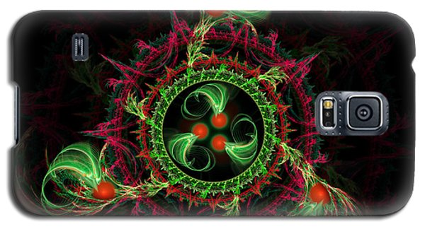 Galaxy S5 Case featuring the digital art Cosmic Cherry Pie by Shawn Dall