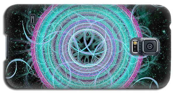 Galaxy S5 Case featuring the digital art Cosmic Circle by Shawn Dall