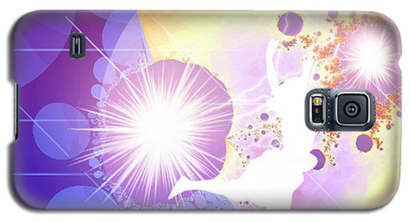 Galaxy S5 Case featuring the digital art Cosmic Dance by Ute Posegga-Rudel