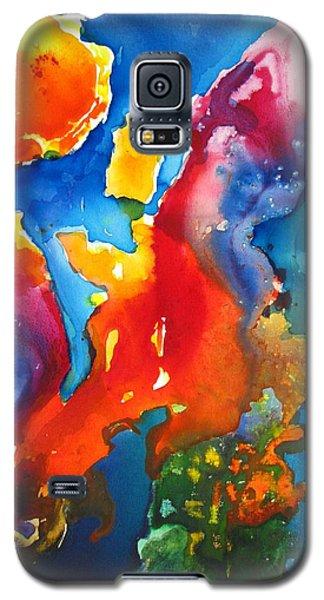 Cosmic Fire Abstract  Galaxy S5 Case by Carlin Blahnik