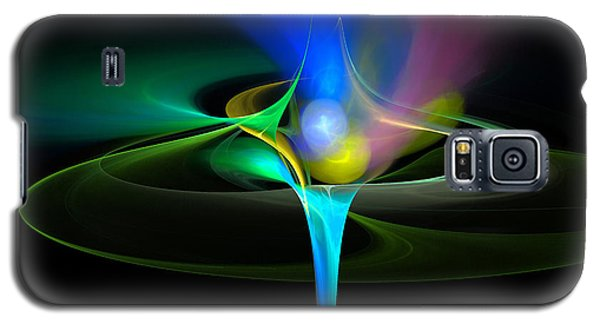 Galaxy S5 Case featuring the digital art Cosmic Flare by Pete Trenholm