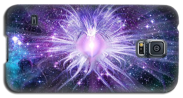Galaxy S5 Case featuring the digital art Cosmic Heart Of The Universe by Shawn Dall