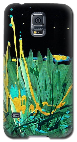 Galaxy S5 Case featuring the painting Cosmic Island by Holly Carmichael