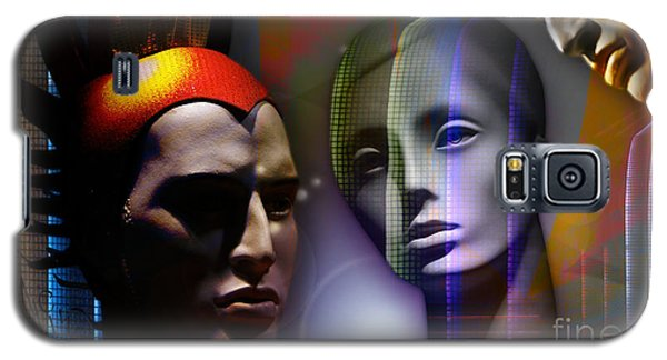 Galaxy S5 Case featuring the digital art Cosmic Mannequins Triad by Rosa Cobos