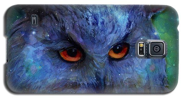 Cosmic Owl Painting Galaxy S5 Case