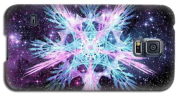 Galaxy S5 Case featuring the digital art Cosmic Starflower by Shawn Dall