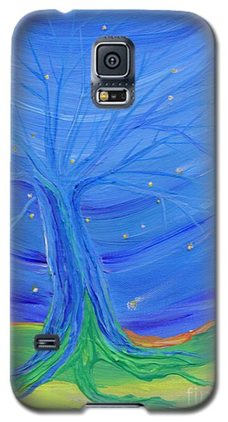 Galaxy S5 Case featuring the painting Cosmic Tree by First Star Art