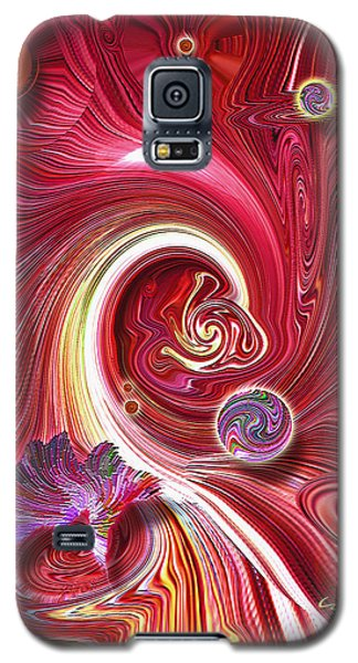 Galaxy S5 Case featuring the mixed media Cosmic Waves by Carl Hunter