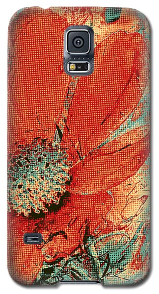 Cosmos Flower Colorized Halftone Galaxy S5 Case