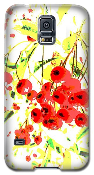 Galaxy S5 Case featuring the photograph Cotoneaster by Barbara Moignard