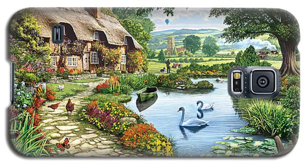 Swan Galaxy S5 Case - Cottage By The Lake by Steve Crisp