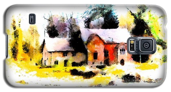 Galaxy S5 Case featuring the painting Cottage In The Woods by Wayne Pascall