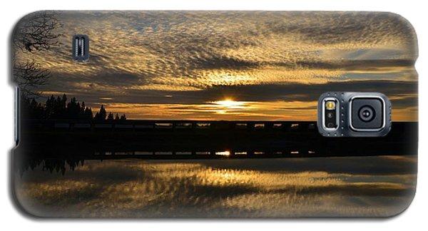 Cotton Ball Clouds Sunset Galaxy S5 Case