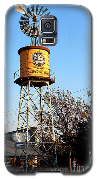 Cotton Belt Route Water Tower In Grapevine Galaxy S5 Case by Kathy  White