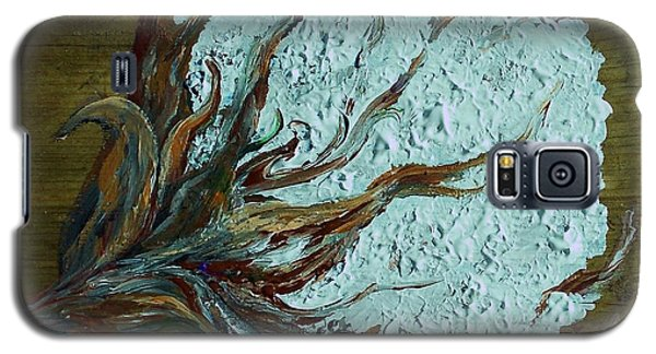 Cotton Boll On Wood Galaxy S5 Case by Eloise Schneider