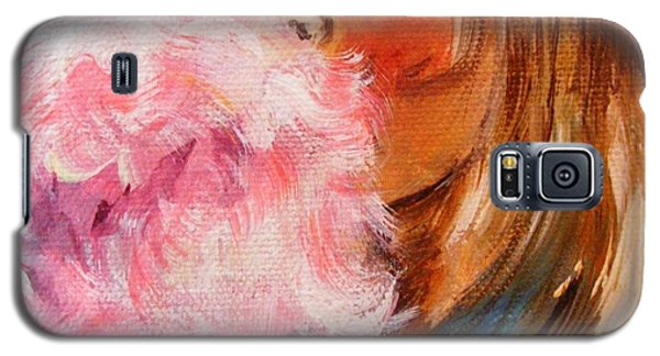 Galaxy S5 Case featuring the painting Cotton Candy by Karen  Ferrand Carroll