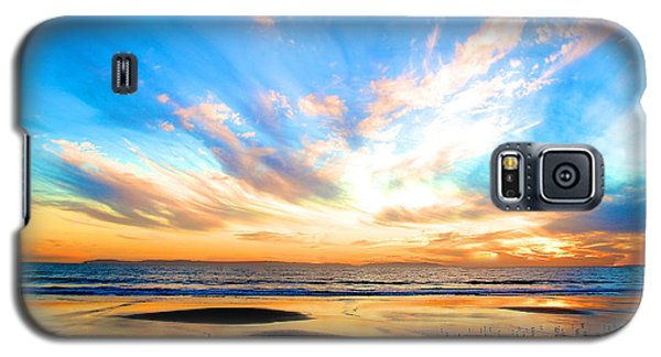 Cotton Candy Sunset Galaxy S5 Case by Margie Amberge