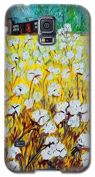 Cotton Fields Back Home Galaxy S5 Case by Eloise Schneider