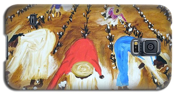 Cotton Picking People Galaxy S5 Case