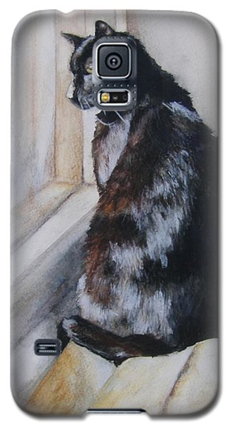 Galaxy S5 Case featuring the drawing Couch Potato by Lori Brackett
