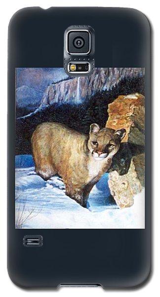Cougar In Snow Galaxy S5 Case